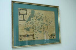 Antique French Map 1631 Calais Region La Cappelle by Janssonn