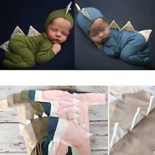 Newborn Fashion Baby Cute Cotton Dinosaur Jumpsuit Photo Photography Props NEW