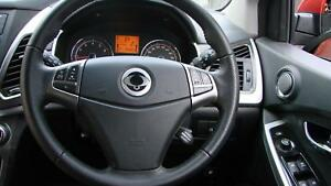 SSANGYONG KORANDO BLACK LEATHER STEERING WHEEL, S/SX/SPR, C200, 02/11- 18