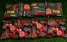 Cornhole Bean Bags Set of 8 Aca Regulation Bags Fire Dept Fire Rescue