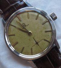 Omega mens wristwatch steel case screw cap load manual cal. 268