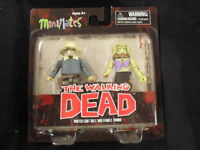 "WALKING DEAD SER.1 MINIMATES ""WINTER COAT DALE & FEMALE ZOMBIE"" 2-PACK! VARIANT!"