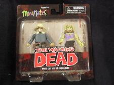"Walking dead ser.1 minimates ""manteau Dale & femelle Zombie"" 2-pack variante!!"