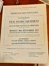 More details for auction catalogue - film studio equipment - shepperton studios 1974 - 5 day sale