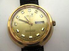 vintage mens cronel watch,  big cased ,, running, hand winding/super vintage