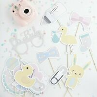 Assorted baby shower Photo props. UNISEX MINT x 15 pcs