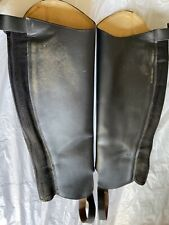 """Tredstep Galway Gaiter Black Leather Chaps 16"""" calf 17"""" height A1A"""