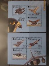 Gibraltar QE11 1999 Wings of Prey Commemorative M/sheets x2 .MNH. Superb.