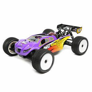 Losi 1/8 8IGHT-T 4 Wheel Drive Truggy Nitro RTR Purple/Yellow