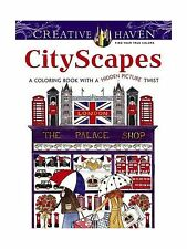 Creative Haven CityScapes: A Coloring Book with a Hidden Pictur... Free Shipping