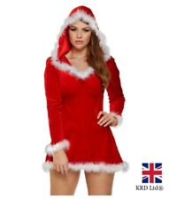 Mrs SANTA CLAUS COSTUME Christmas Fancy Dress Xmas Ladies Adults Costume Outfit
