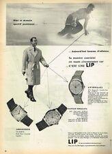 D- Publicité Advertising 1958 Les Montres LIP  ...... ski