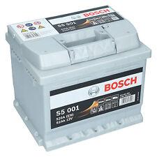 PKW Autobatterie 12 Volt 52 Ah Bosch S5 001 Starterbatterie ersetzt 50Ah 60Ah