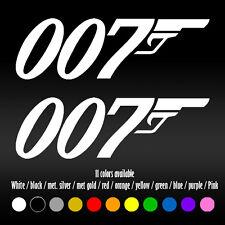 "7"" 007 James Bond Movie UK Agent Laptop Bumper Car Window Vinyl Decal sticker"
