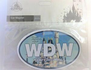 Walt Disney World Parks WDW Cinderella Castle Car Magnet Decal COLOR NEW SEALED