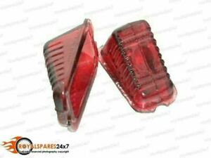 New Pair Lucas Type L471 Rear Tail Stop Light Red Glass Lens Morris Minor Oxford