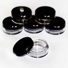 25 x 5ml **BEST QUALITY** CLEAR PLASTIC SAMPLE JARS/POTS Glitter/Cream jdb-25