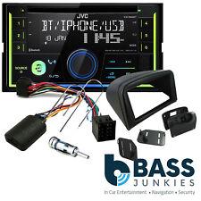 PEUGEOT 206 JVC Bluetooth CD MP3 USB Auto Stereo & Doppio DIN VOLANTE KIT