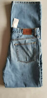 BROOKS BROTHERS 346 Men Relaxed Fit 100% Cotton Denim Jean - 34x34 Medium Blue
