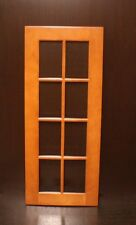 "Kraftmaid Kitchen Cinnamon Maple Glass Door 4 Wall Cabinet 15x36"" R. or L. Hand"