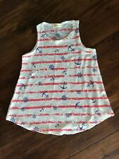 Ginger G Red/White/Blue Tank w/ Nautical Theme in Girls Size 12