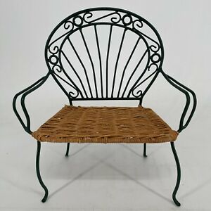 """Patio Furniture Wicker Chair Fits 18"""" American Girl Doll"""