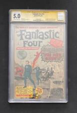 FANTASTIC FOUR #13 CGC 5.0 STAN LEE SS 1ST APP WATCHER RED GHOST 1 SIGNED