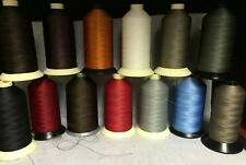 92 (Tex 90) Mid Weight Bonded Nylon/Poly Upholstery Leather Thread (16oz)