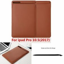 "Ultra Slim Leather Cover Case For iPad Pro 10.5"" 2017 With Apple Pencil Holder"