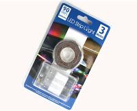 90er LED Streifen Stripe in bunt 3m Batteriebetrieb LED Band Leiste Strip NEU