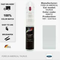 Car Touch Up Paint Ford (N America) Taurus White Code: 6466 / YZ Scratch Fix Pen