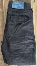 GAP Trousers Mens Wool Size 32x30 Brown Tweed Brand New Flat Front Straight Fit