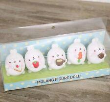 MOLANG/SET 5 PCS RABBIT 5 CM- MOLANG BUNNY  FIGURES IN BOX ( MODEL B)