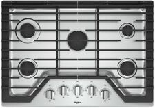 """New listing Whirlpool Wcg77Us0Hs 30"""" Stainless 5-Burner Gas Cooktop #44864 Hrt"""