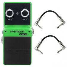 Valeton PH-10 Analog Phaser Guitar Pedal with 2 patch cables