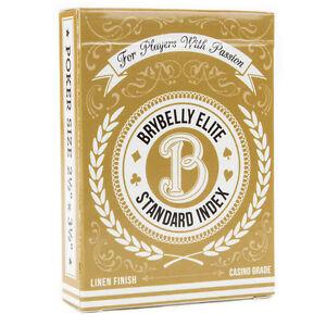 Brybelly Elite Medusa Deck - Poker Size - Regular Index - 1 Deck - Gold