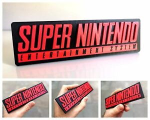 Super Nintendo (SNES) 3D logo / shelf display / fridge magnet - collectible