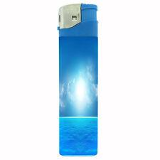 Jumbo Size Huge Big Giant 6.5 inch Electronic Lighter Ocean Views Design-003