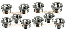 """Silver Brass 3/8""""-16 to 1/4""""-20 Reducer Bushing for Monotripod Tripod x 10pcs"""