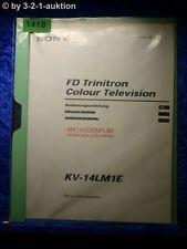 Sony Bedienungsanleitung KV 14LM1E Color TV (#1418)