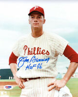 JIM BUNNING SIGNED AUTOGRAPHED 8x10 PHOTO + HOF 96 PHILLIES PSA/DNA