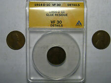 """1914-P, 1914-D, 1914-S Lincoln Cents       """"3 Coin Lot""""                    (**)"""