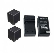 TWO 2 Batteries + Charger for Panasonic HC-X900 HC-X900M HC-X900ME HC-x800