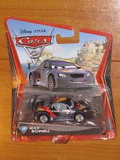 Max Schnell Diecast Disney Pixar Cars 2 Mattel Toy Vehicle German Racer #21 NEW!