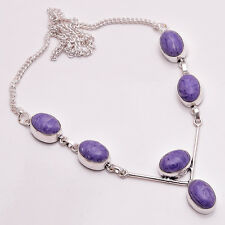 925 Sterling Silver Overlay Necklace, Handmade Gemstone Fashion Jewelry PN690
