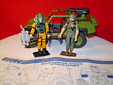 1982 VINTAGE ARAH GI JOE VAMP JEEP & DRIVER CLUTCH 100%+ SCOOP & CARDS cobra **