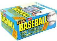 1987 FLEER BASEBALL WAX PACK BOX 36 PACKS FASC BARRY BONDS,BO JACKSON LARKIN RC