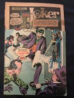 THE JOKER #1 (1975) KEY ISSUE: 1st issue of own series, Partial cover reader