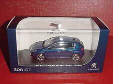 PEUGEOT 308 GT 5 portes BLEU MAGNETIC 1/43 NOREV EN BOITE