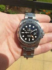 Mens watch gmt adventure explorer, black dial orange gmt peter lee, cool homage!